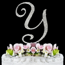 Elegance by Carbonneau Y-Completely-Covered Completely Covered ~ Swarovski Crystal Wedding Cake Topper ~ Letter Y