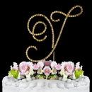 Elegance by Carbonneau Y-Renaissance-Gold Renaissance ~ Swarovski Crystal Wedding Cake Topper ~ Gold Letter Y