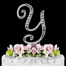 Elegance by Carbonneau Y-Vintage Vintage ~ Swarovski Crystal Wedding Cake Topper ~ Letter Y
