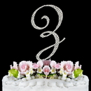 Elegance by Carbonneau Z-Completely-Covered Completely Covered ~ Swarovski Crystal Wedding Cake Topper ~ Letter Z