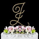 Elegance by Carbonneau Z-Renaissance-Gold Renaissance ~ Swarovski Crystal Wedding Cake Topper ~ Gold Letter Z