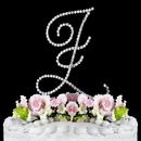 Elegance by Carbonneau Z-Renaissance-Silver Renaissance ~ Swarovski Crystal Wedding Cake Topper ~ Silver Letter Z