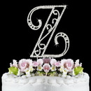 Elegance by Carbonneau Z-Roman Romanesque ~ Swarovski Crystal Wedding Cake Topper ~ Letter Z