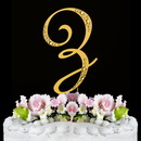 Elegance by Carbonneau Z-Sparkle-Gold Sparkle ~ Swarovski Crystal Wedding Cake Topper ~ Gold Letter Z
