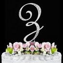 Elegance by Carbonneau Z-Sparkle-Silver Sparkle ~ Swarovski Crystal Wedding Cake Topper ~ Silver Letter Z