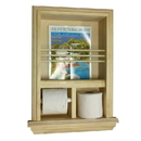 WG Wood Products MR-17 Recessed Magazine Rack/Toilet Paper Combo III