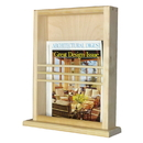 WG Wood Products MR-19 On the wall magazine rack with ledge