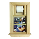 WG Wood Products MR-2 In the wall Magazine Rack plus Toilet Paper Holder