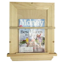 WG Wood Products MR-3 On the wall Magazine Rack