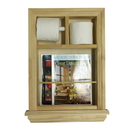 WG Wood Products MR-4 In the wall Magazine Rack/Toilet Paper Combo