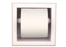 WG Wood Products PLTP-7 Bevel frame recessed plastic toilet paper holder