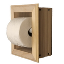WG Wood Products TP-21 Solid Wood Recessed in wall Bathroom Toilet Paper Holder-Multiple Finishes