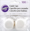 Wilton 1912-1243 White Glsn Candy Cups 100Ct