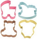Wilton 2308-1067 Baby 4Pc Colored Theme Set