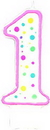 Wilton 2811-240 Pink #1 Candle