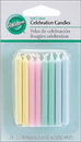 Wilton 2811-291 Celeb Rounds Candles - Soft