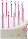 Wilton 2811-3696 Candles Color Flame Pink 12Ct