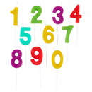 Wilton 2811-701 Candle Pick Set Numerals 10Ct