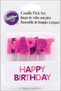 Wilton 2811-706 Candles Pick Hbday Pink 13Ct