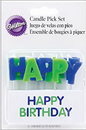Wilton 2811-707 Candles Pick Hbday Blue 13Ct