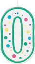 Wilton 2811-9100 Numeral Candle 0 Green