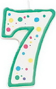 Wilton 2811-9107 Numeral Candle 7 Green