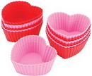 Wilton 415-9409 Heart Silicone Baking Cup 12Ct