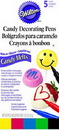 Wilton 609-130 Candy Melt Writing Pen Primary