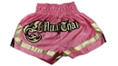 Woldorf USA w205-11 Muay Thai shorts special cutt letters PINK