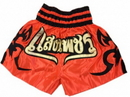 Woldorf USA w205-14 Woldorf Boxing Muay Thai Shorts in Satin Embroidery cutt letters Orange