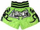 Woldorf USA w205-15 Woldorf Boxing Muay Thai Shorts in Satin Embroidery Green