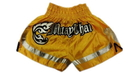 Woldorf USA w205-9 Muay Thai shorts special cutt letters yellow