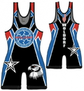 Woldorf USA w444 Wrestling singlet sublimation