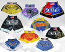 Woldorf USA w887 Mix Muay thai cutt letters shorts satin or nylon mix designs colors