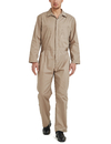 TOPTIE Men's Cotton Blend Zip-Front Work Protective Coverall