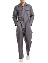 TOPTIE Men's Action Back Coverall with Zipper Pockets, Mechanic Uniform
