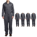 TOPTIE Men 5 Pack Twill Big-Tall Coverall Stain and Wrinkle Resistant Cotton Poly