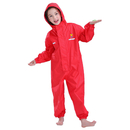 TOPTIE Toddler and Kids One Piece Outdoor Rainsuit Waterproof Coverall with Hood