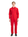 TOPTIE Men's 8.5 Oz Front-Zip Long Sleeve Twill Action Back Coverall