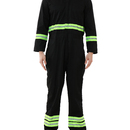 TOPTIE Safety Coverall with Green Reflective Tape, Regular Length