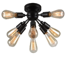 Warehouse of Tiffany C1706-8 Juvan Antique Bronze Edison Bulbs 8-light Ceiling Light