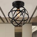Warehouse of Tiffany C1710-1 Emrael Antique Black Globe Ceiling Lamp