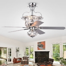 Warehouse of Tiffany CFL-8154REMO/CCH Charla Silver 4-light Crystal 5-blade 52-inch Chandelier Ceiling Fan (Remote Controlled)