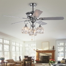 Warehouse of Tiffany CFL-8332CH Mavyn 5-Blade 52-Inch Chrome Ceiling Fan with 3-Light Crystal Chandelier (Optional Remote & 2 Color Option Blades)