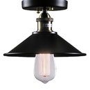 Warehouse of Tiffany LD4016 Candice 1-light Black Edison Lamp with Bulb
