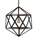 Warehouse of Tiffany LD4022 Diamond Cage 1-light Edison Lamp with Bulb