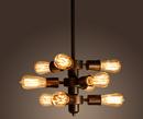 Warehouse of Tiffany LD4050 Mariam 9-light Adjustable Bulb Socket Edison Chandelier Including Bulbs