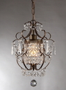 Warehouse of Tiffany RL4025BR Rosalie 1-light Antique Bronze 11-inch Crystal Chandelier