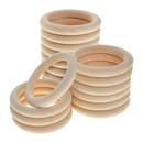 Muka 50 Pieces Natural Wood Rings 55mm 70mm, Premium Wood Circles DIY Crafts Accessories
