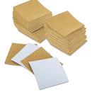 Muka 100 Pack Self-Adhesive Cork Sheets for Coasters, DIY Crafts Cork Tiles Mat